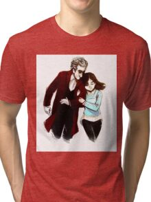 The Doctor and Clara  Tri-blend T-Shirt