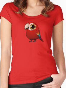 Cute Fat Macaw Women's Fitted Scoop T-Shirt