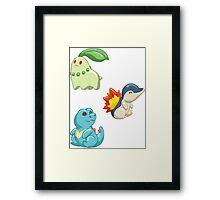 Pokemon Starters - Gen 2 Framed Print