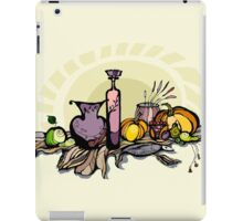Still life with pumpkin, pear and grapes iPad Case/Skin