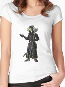Skyrim Thalmor Argonian Women's Fitted Scoop T-Shirt