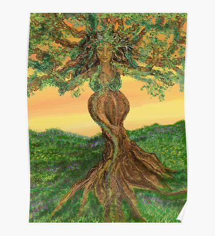 Tree Goddess of Fertility Poster