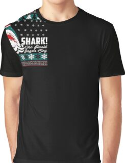 SHARK! THE ANGEL SING T-Shirt merry funny christmas Graphic T-Shirt