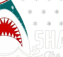 SHARK! THE ANGEL SING T-Shirt merry funny christmas Sticker