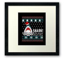 SHARK! THE ANGEL SING T-Shirt merry funny christmas Framed Print