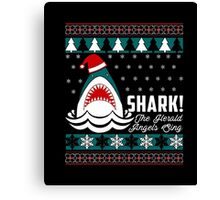 SHARK! THE ANGEL SING T-Shirt merry funny christmas Canvas Print