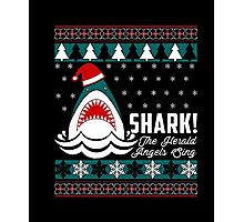 SHARK! THE ANGEL SING T-Shirt merry funny christmas Photographic Print