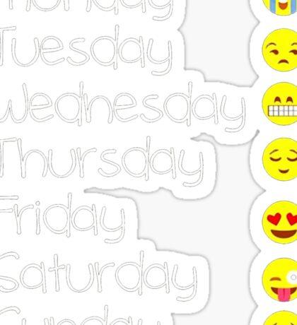 Emoji T Shirt Love Your Emoticon Shirt 7 Days - HQ Design Sticker