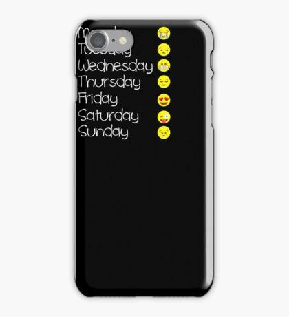 Emoji T Shirt Love Your Emoticon Shirt 7 Days - HQ Design iPhone Case/Skin