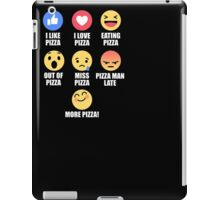 Pizza Lover Emotions Funny Emoticon Emoji T-Shirt iPad Case/Skin