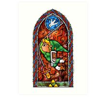 LoZ Grappling Hook Stained Glass Art Print