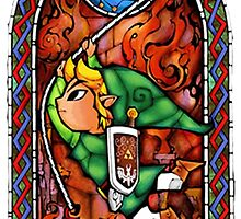LoZ Grappling Hook Stained Glass by CutieFruity