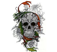 Blooming Dragon Skull Photographic Print