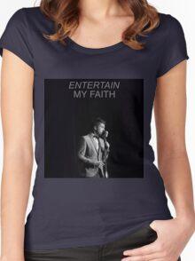 entertain my faith tøp Women's Fitted Scoop T-Shirt