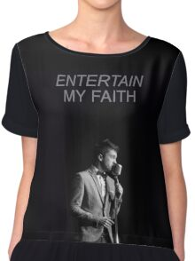 entertain my faith tøp Chiffon Top