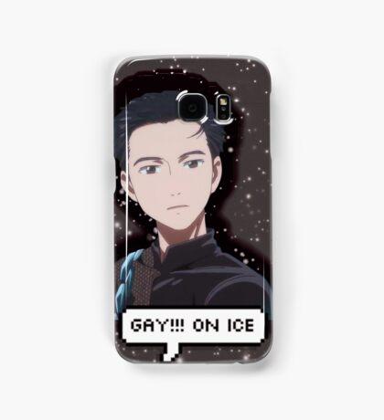 gay!!! on ice Samsung Galaxy Case/Skin