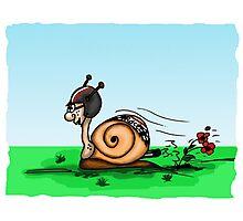 Racing snail Photographic Print
