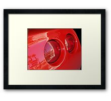 Taillight Reflection Framed Print