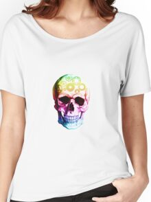 Vampire skull in colour Women's Relaxed Fit T-Shirt