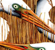 Three Egrets Sticker