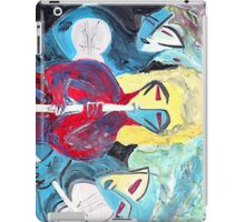 Three Blue Jazz Sisters iPad Case/Skin