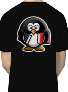Bookworm Penguin, Cartoon Classic T-Shirt