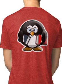 Bookworm Penguin, Cartoon Tri-blend T-Shirt