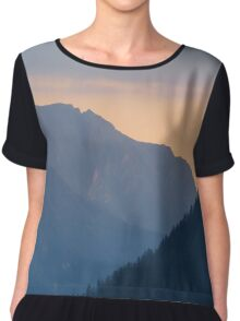 Beautiful nature mountains sunset Chiffon Top