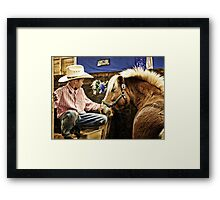 Young Cowboy from West Paris,  Maine Framed Print