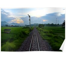 At the Tail of the Train - Vietnam. Poster