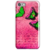 Butterflies on pink  iPhone Case/Skin