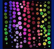Dot Dance on Black by Betty Mackey