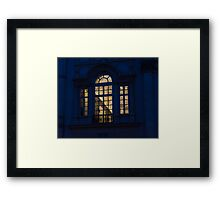 A Glimpse Through a Window - Piazza Navona, Rome, Italy Framed Print