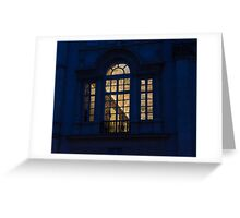 A Glimpse Through a Window - Piazza Navona, Rome, Italy Greeting Card
