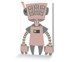 Slot Machine Robot Greeting Card