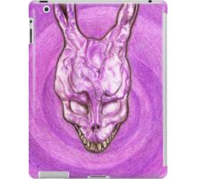 Frank The Easter Bunny (with sort of timey wimey background) iPad Case/Skin