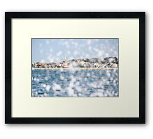 The City through the Water - Bay of Arcachon, France Framed Print