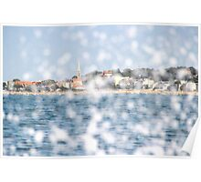 The City through the Water - Bay of Arcachon, France Poster