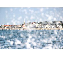 The City through the Water - Bay of Arcachon, France Photographic Print
