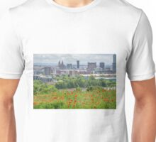 Poppies in the city, Liverpool Unisex T-Shirt
