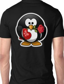 Valentine Penguin, Cartoon, Love Red Unisex T-Shirt