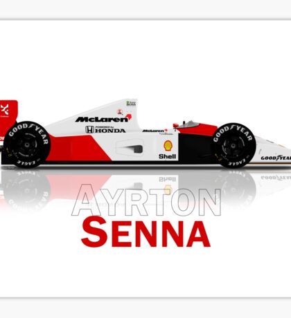 McLaren MP4/6A - Ayrton Senna T-Shirt Sticker