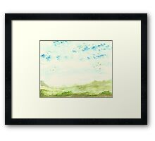 Hills and Valleys Framed Print