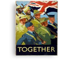 Vintage poster - Together Canvas Print