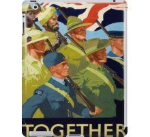 Vintage poster - Together iPad Case/Skin