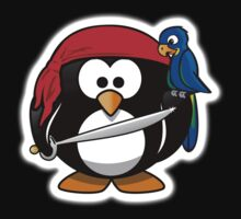 Penguin, Pirate, Penguins of the Caribbean, Cartoon, fun Baby Tee