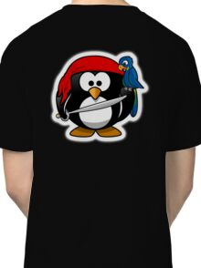 Pirate Penguin, Penguins of the Caribbean, Cartoon Classic T-Shirt