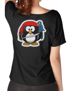 Penguin, Pirate, Penguins of the Caribbean, Cartoon, fun Women's Relaxed Fit T-Shirt