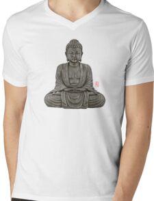 Buddha lines  Mens V-Neck T-Shirt