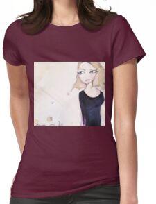 Black dress Womens Fitted T-Shirt